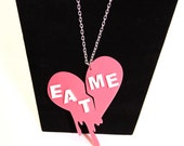 Broken Heart Eat Me Necklace