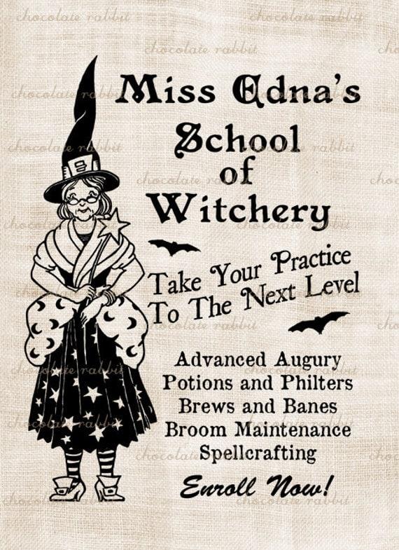 Vintage Halloween Witch Digital Download Clip Art