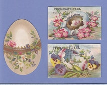 Antique Easter Cards Ephemera Giant Rabbit Easter Eggs