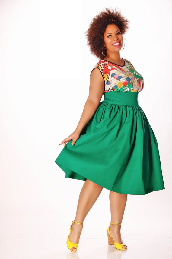 jibri plus size high waist flare skirt by jibrionline on etsy