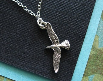 Seagull, Necklace, Bird Necklace, Bird Jewelry, STERLING Silver Bird Necklace, Dainty Jewelry, Everyday Necklace