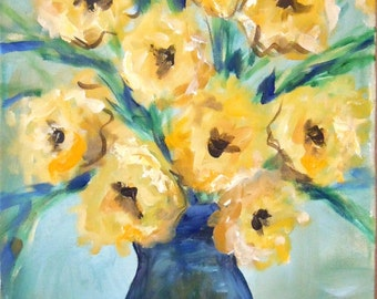 Yellow and Blue by Kristen Dougherty