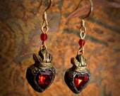 Madeleine - Sacred Heart custom made earrings