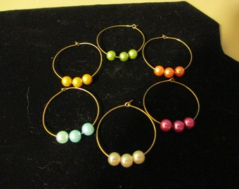 Wine Charms Gold 2