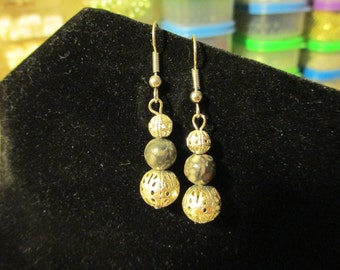 Earrings - Leopardskin Jasper