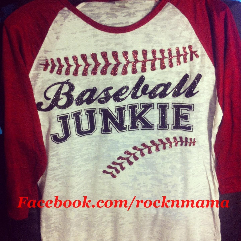 baseball junkie baseball mom shirt baseball tee baseball