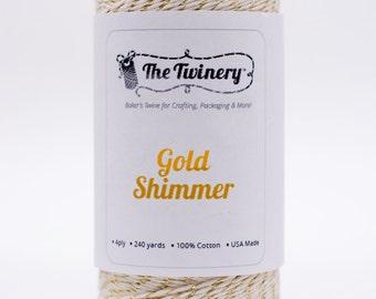 Full Spool - 240 Yards - Metallic - Gold Shimmer - Baker's Twine