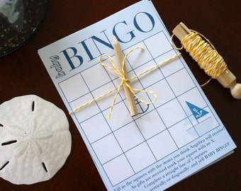 NAUTICAL baby BINGO - diy printable