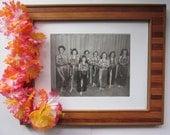 1940s Photo of Hula Girl Dancers