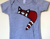 Red Panda T shirt Babies or Children Heather Grey