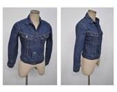 vintage denim jacket vintage jean jacket womens 1960s LEE jeans 109-jy