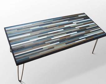 Wood Desk, Wood Coffee Table or End Table, Modern Industrial Furniture