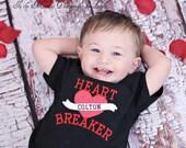 Items similar to heart breaker tattoo boys valentine shirt for Bremerton tattoo shops