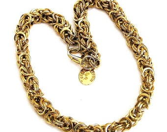 Erwin Pearl Signature Gold Tone Link Necklace