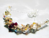"Once Upon a Time Snow White Inspired Swarovski Crystal Necklace Beadweaving Sterling Silver -  ""The Fairest"""