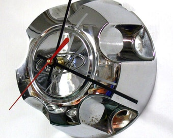 Recycled Wall Clock made from 1995 - 2001 Ford Explorer SUV Ranger Pickup Truck Center Cap