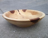 Wood Bowl or Platter, Shallow Wooden Bowl, Solid Wood Wooden Bowl - Rustic Home Decor