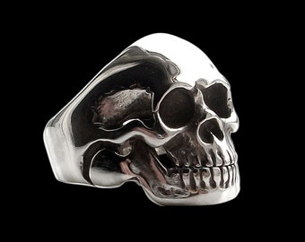 Sterling Silver Movable Jaw Skull Ring -  ALL SIZES