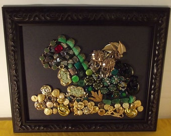 Dragon's Hoard jewelry collage, free shipping