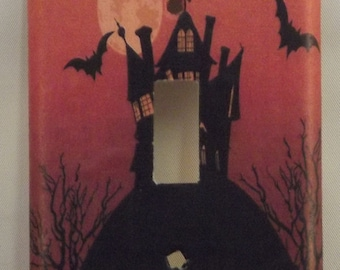haunted house Switchplate Cover - Free Shipping - 1019HOLI