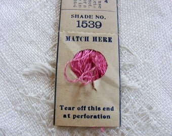 Antique 1920's Silk Embroidery Floss Belding Bros. Pure Filo Silk Gorgeous Light Raspberry Pink