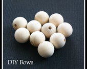 20 - Wooden Beads Spheres - 7/8 inch ( 22 mm)  - Great for DIY Doll Heads, Jewelry, Teethers, Decoupage, Crafts and More
