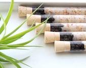 Organic & All Natural Juniper Grapefruit Herbal Bath Salt Test Tubes. (Harmonize Bath Affirmations) Detox, Spa, Luxury Gift Set