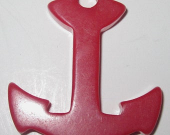 Vintage Bakelite Anchor No 2 in Cherry Red.