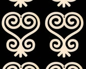 Sankofa African Adinkra Symbol of Learn from the Past Natural Craft Wood Cutout 1729