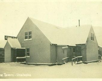 The Tavern Unalaska Dutch Harbor Alaska WW2 Era Vintage Black And White Photo Photograph