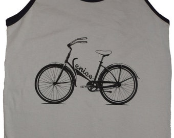 Venice Bicycle Bike T-Shirt Mens Tank Top American Apparel Sizes XS  S  M   L  or   XL