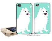 Samoyed Husky iphone Case fits iphone 7plus, 7, 6, 5, 5c, 4 and 4s, Dog iphone case, Dog iphone Cover, Dog Art