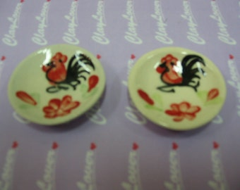 Miniature Rooster Plate (2020220)