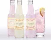 vintage lemonade, pink lemonade and limeade labels - printable editable file - soda personalized drink labels custom sticker diy drink label