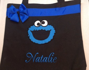 Personalized Tote Bag, Personalized Tote, Cookie Monster Tote Bag, Cookie Monster Tote, Cookie Monster Gift, Personalized Cookie, Cookie bag