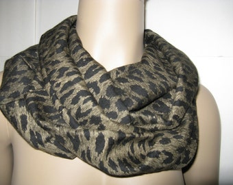 Infinity Scarf, Loop Scarf, Circle Scarf, Animal Print , Women