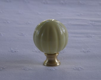 Pottery/Ceramic Fluted Ball Lamp Finial - Choose Your Color - USA Made Original