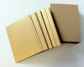 ATC ACEO Hand Cut Blanks Wausau Metallics Card Stock Paper High Quality Pack of 10 - Kings Gold on Matte Gold