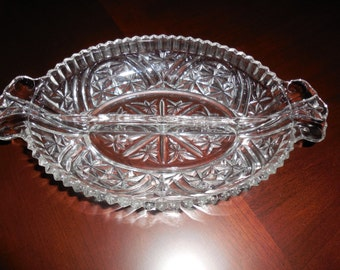Glass Divided Serving Candy Dish