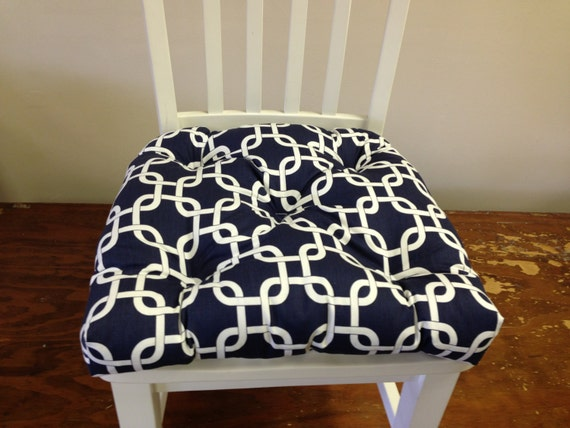 Tufted Bench Cushion 48 X 16 Inches Chain Link Gotcha Navy