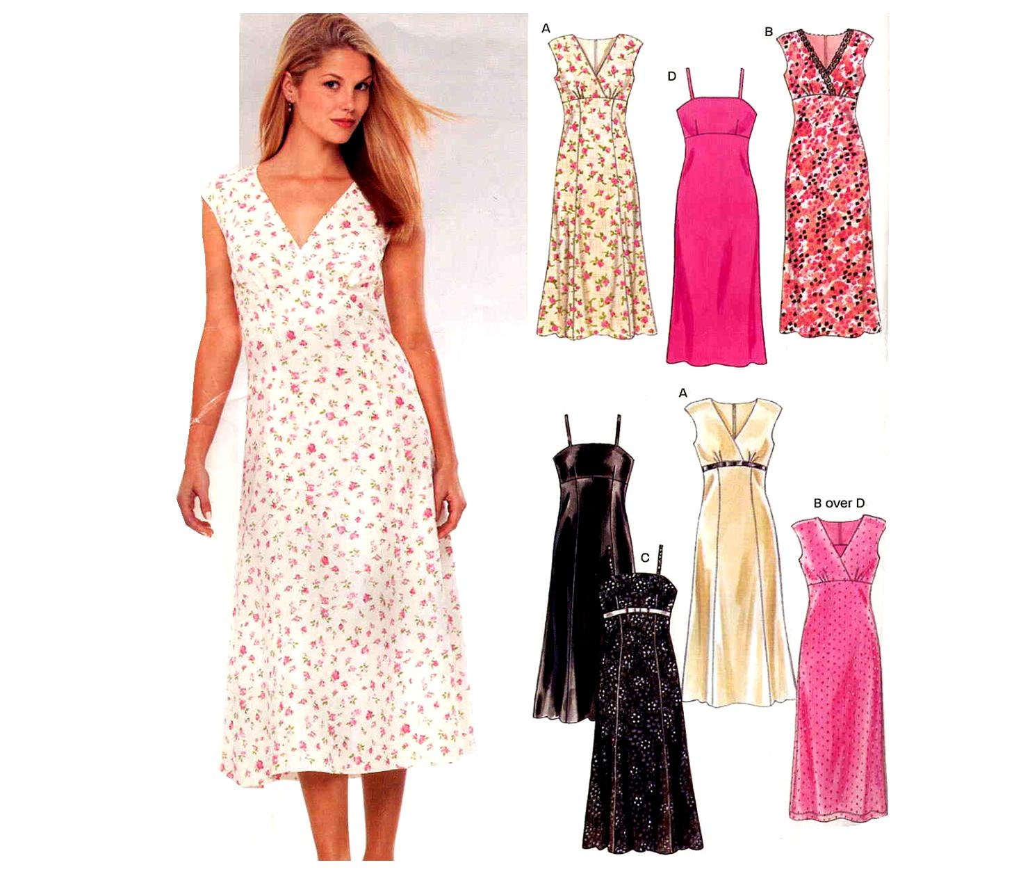 Summer Dresses Sewing Pattern New Look 6341 Empire Sleeveless