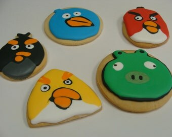 Angry Bird Cookie Set of 20