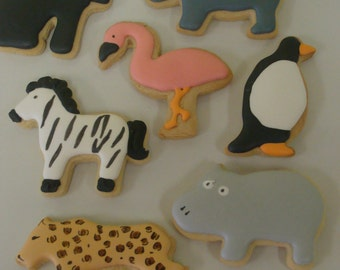 Zoo Animal Cookies Set