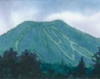 Digital Print of Burke Mountain Vermont Watercolor Painting