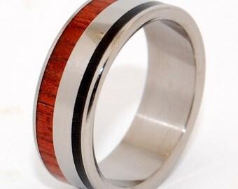 Wooden Wedding Rings, titanium ring, titanium wedding rings, Eco-friendly rings, mens ring, womens rings, wood rings - Centaur