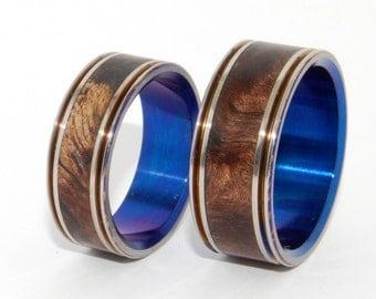 Wooden Wedding Rings, titanium ring, titanium wedding rings, Eco-friendly rings, mens ring, womens rings, wood rings -BELIEVE IN YOU