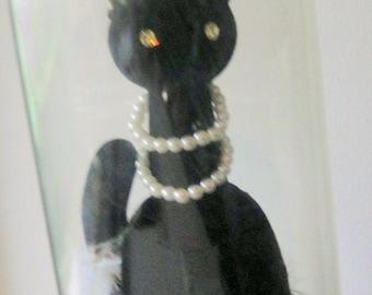 MAX FACTOR Black Sophisti-Cat Primitif Perfume Perfum in Dome