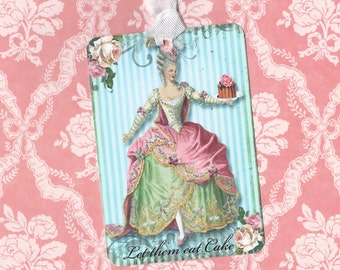 Tags, French Style, Gift Tags, Marie Antoinette, Let Them Eat Cake