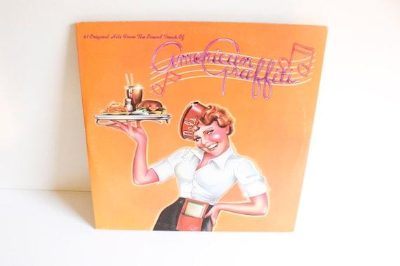Vintage 1973 American Graffiti Double Record Album