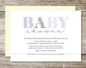 Patterned Baby Shower Invitation - Set of 25